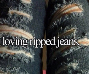 jeans and ripped jeans image