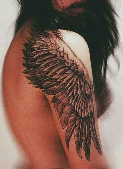 beautiful, black, and wings image