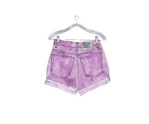 purple, shorts, and overlay image