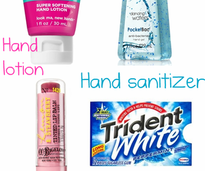 gum, lotion, and inside my bag image