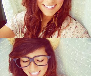 eyes, glasses, and hair image