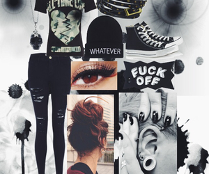all time low, black, and outfit image