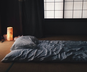 bed, japan, and tatami image