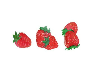 strawberry, red, and overlay image