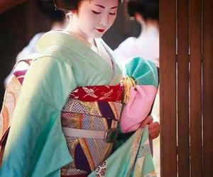geisha, girl, and japan image