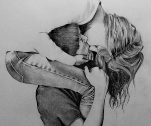 black and white, draw, and drawings image