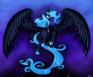 MLP, princess luna, and princess of night image