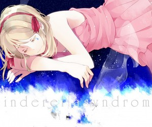 anime, pink dress, and rin image