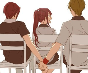 makoto, love triangle, and rin image