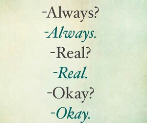 always, the fault in our stars, and real image