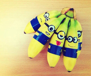 minions, banana, and funny image