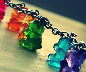 gummy bears, bear, and bracelet image