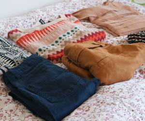 bag, jeans, and shorts image