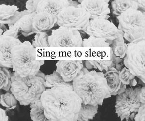 sleep, flowers, and sing image
