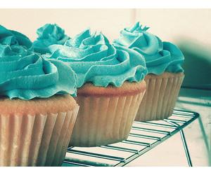 cupcake, blue, and sweet image