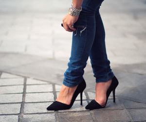 jeans and heels image