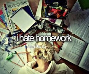 homework, school, and hate image