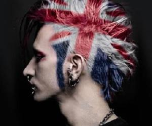 colored hair, england, and guy image