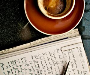 coffee and writing image