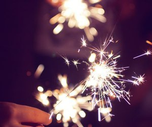 fireworks, light, and christmas image