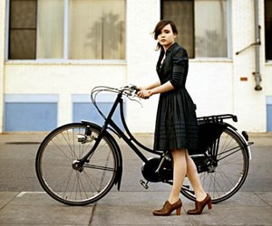 ellen page, bike, and dress image