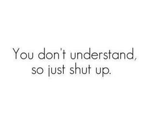quotes, shut up, and text image