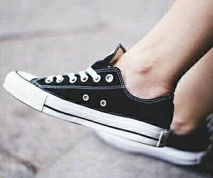 all star, black, and shoes image