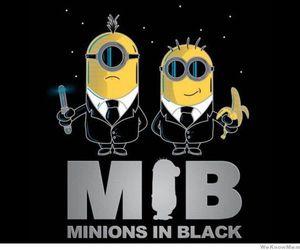 minions, funny, and mib image