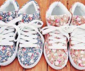 flowers, lovely, and shoes image