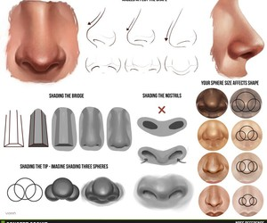 drawing, nose, and tutorial image