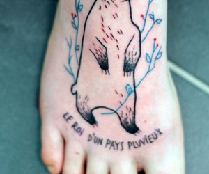 body art, tattoo, and feet image