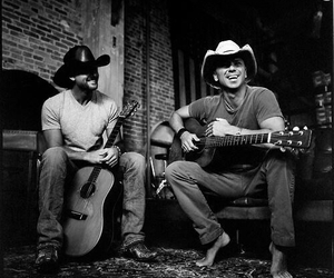 black and white, country music, and guitars image