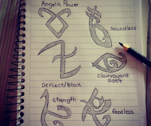 drawing, by myself, and runes image