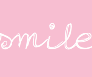 smile, pink, and happiness image