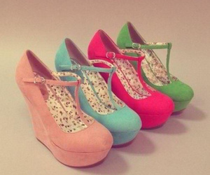 shoes, pink, and green image