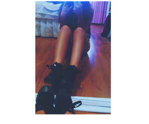 girl, legs, and room image