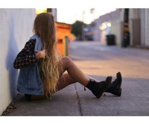 girl, blonde, and boots image