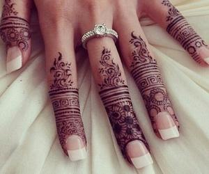 henna, nails, and ring image