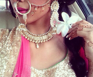 desi, bride, and fashion image