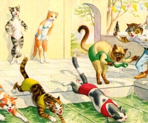 cats, illustration, and eugen hartung image