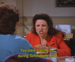 seinfeld, schindler's list, and elaine benes image