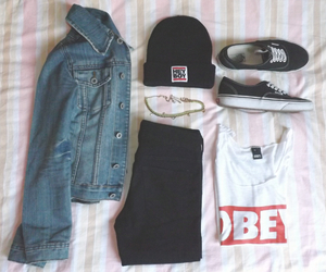 vans, fashion, and obey image