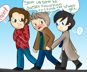 dean winchester, fan art, and funny image