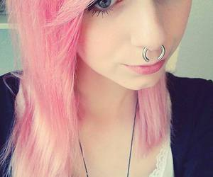 alt girl, dyed hair, and Piercings image