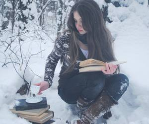 book and snow image