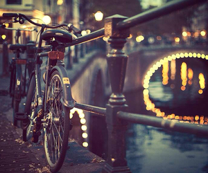 light, bike, and amsterdam image