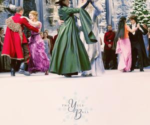 harry potter, yule ball, and hogwarts image