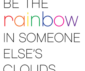 inspiration, quotes, and rainbow image