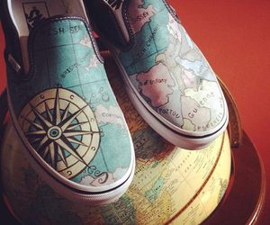 world, vans, and map image