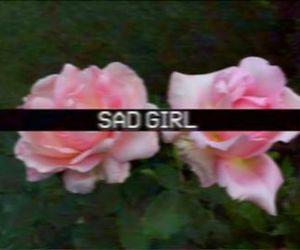 grunge, pink, and sad girl image